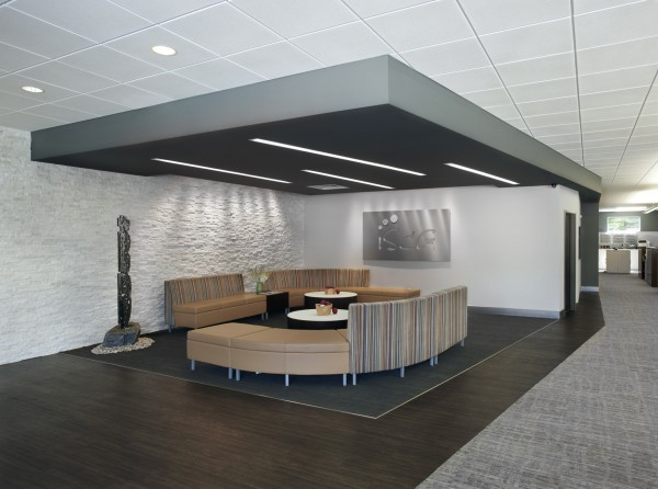 Examples of the lighting solutions implemented in ISCG's recently renovated Royal Oak, Mich. headquarters.